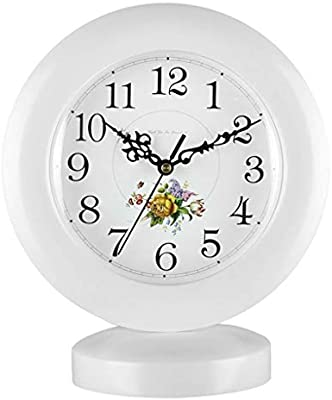 LQUIDE Family Fireplace Clocks Table Watch Tablecloths Living Room Clocks Solid Wood Retro American Quartz Watch Quiet Ornaments Suitable for Living Room do