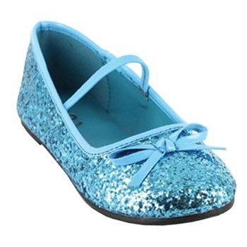 2383d046b49 Frozen Elsa Sparkly Shoes.  . Blue Glitter Costume Flats Blue Glitter Costume  Flats · Funtasma Kids Star
