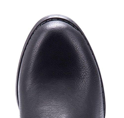Schuhtempel24 Damen Schuhe Klassische Stiefeletten Stiefel Boots Blockabsatz Schnalle 7 cm Schwarz