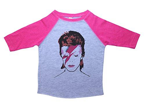Baffle David Bowie Raglan Toddler Tee/Bowie/Ziggy Stardust / 70s Glam Rock