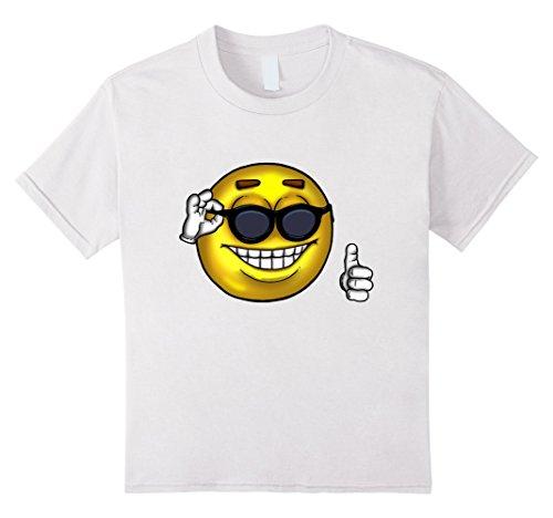 Kids Sunglasses Thumbs Up Meme T-Shirt - Picardia Strawman Ball 4 - Guys White In Sunglasses