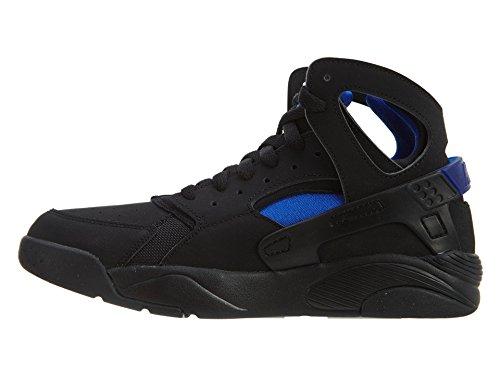 Nike Flight Huarache (Gs), Zapatillas de Baloncesto para Niños Negro / Azul (Black / Lyon Blue)