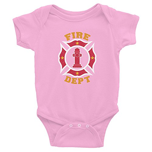 Firefighter Bodysuit for Babies Fire Dept Boys Girls Idea Infant Toddler Outfit]()