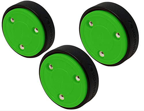 (Smarthockey 4oz Slider Hockey Training Speed Puck - Green 3-Pack)