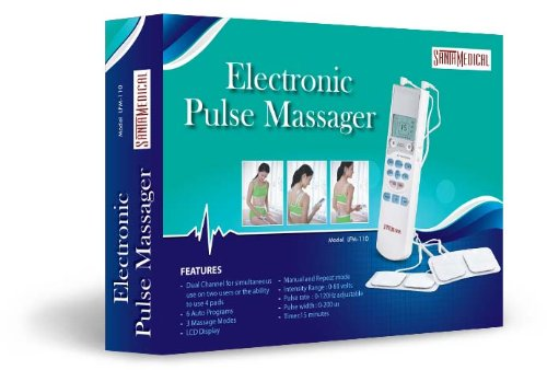 Tens Unit Handheld Electronic Pulse Massager - Excellent Muscle Stimulator for Electrotherapy...