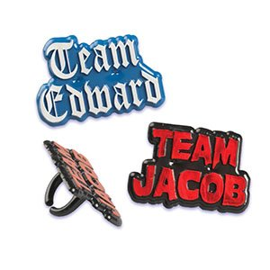 Twilight Team Jacob - Team Edwards Cupcake Rings