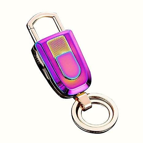 Llavero de metal electrónico de mechero USB recargable de ...