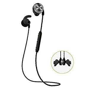 TROND U2 Bluetooth Headphones V4.1 IPX6 Waterproof Wireless Sports Headphones Earbuds Headset with Mic (APT-X, CVC 6.0 Noise-Cancelling, Sweatproof), for Gym, Running, Jogger, Hiking, Exercise