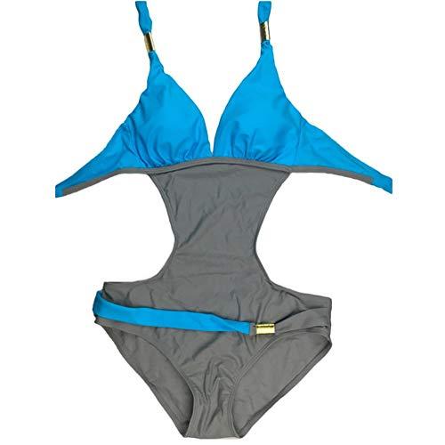 De Maillot Body Hippie Bresilien Swimsuit Turquoise Push Bain Epaule Boho Up Pieces Swimwear Femme Bikini Une Monokini Tenues Halter Plage Sans 1Bx5wdqqp