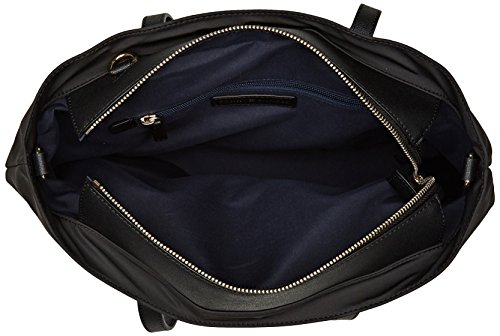 Bag Tommy Black Tote City Med Tommy Shoulder Nylon Hilfiger Women's Hw7qUaU