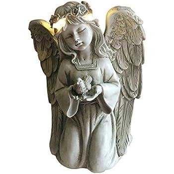 Amazon Com Napco Sitting Angel Statue 9 3 4 Inch Long Outdoor Statues Garden