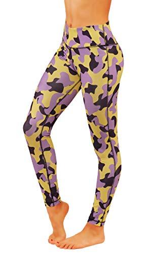 Fit Division Camo Leggings Yoga Pants Power Flex Dry-Fit Workuot Camouflage Print (M fit 8-10, FD 1013)