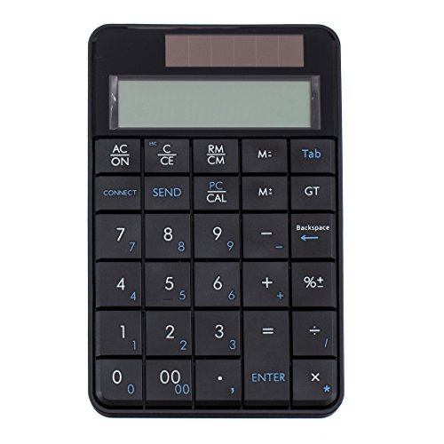 I Focus 2 in 1 Wireless Numeric Keypad with Calculator Function, USB Financial Accounting Numpad Solar Power 29 keys Number Pad for Laptop Desktop PC Windows XP by I Focus (Image #6)
