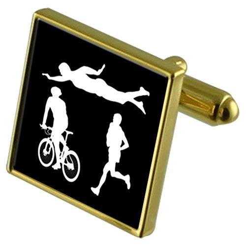 Triathlon Sports Gold-tone Cufflinks in - In Triathlon Shops London
