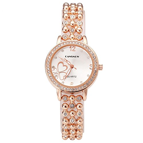 Top Plaza Rhinestone Bracelet Watch Heart