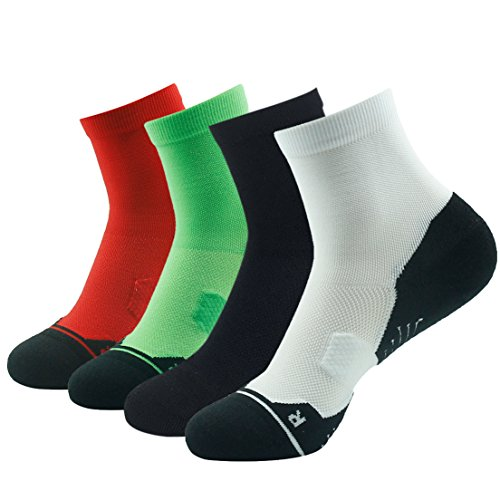 HUSO Men Women Arch Support Cushion Ankle Running Athletic Crew Socks 1,4,6 Pairs