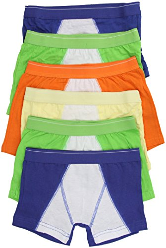 ToBeInStyle Men's Pack of 6 Cotton Boxer Briefs - Bright Colors - Small (Mens Boxer Briefs Bright Colors)