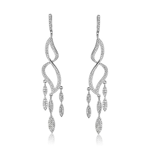 Shaze Rhodium Plated Glam Twists Earrings For Women|Gift for Her Birthday|Christmas Gift for Her by shaze