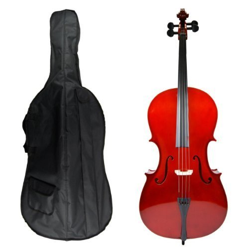 GRACE 1/8 Size Student Cello with Bag and Bow + Free Rosin by Grace