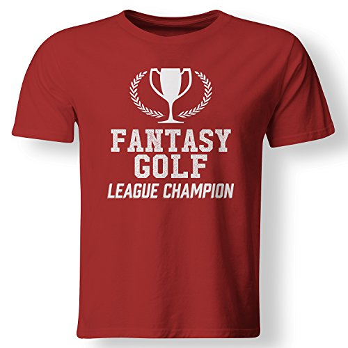 Fantasy Golf League Champion Trophy Winner T Shirt Red XXX-Large