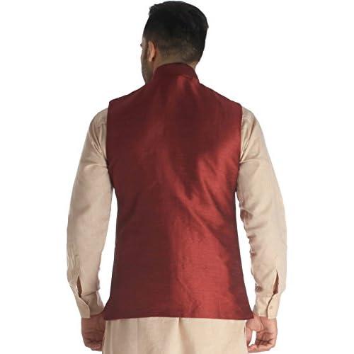 410Md52sLxL. SS500  - Exotic India Men's Silk Waistcoat