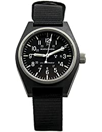 WW194003BK General Purpose Mechanical (GPM) Military Field Watch with Tritium and Sapphire Glass. (Black)