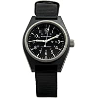 MARATHON WW194003BK General Purpose Mechanical (GPM) Military Field Watch with Tritium and Sapphire Glass. (Black)