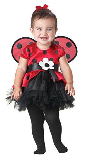 SEASONS DIRECT Halloween Girl's Tiny Ladybug Costume Includes Dress and Wings (Ladybug Costume For Toddler)