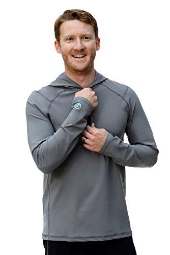 Men's Ultra-Premium Swim Shirt with a Hood Moon Rock - Swimming Hood
