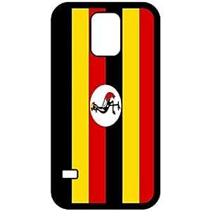 Uganda Flag Black Samsung Galaxy S5 Cell Phone Case - Cover