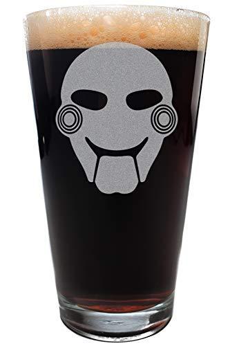 Minimalist JIGSAW Scary Movie Mask Pint Size Drinking