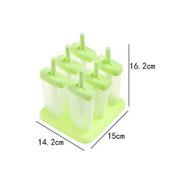 delmkin 6 St. ghiaccioli forme ghiaccio forme 6 pezzi gelato forme per bambini verde 3 spesavip