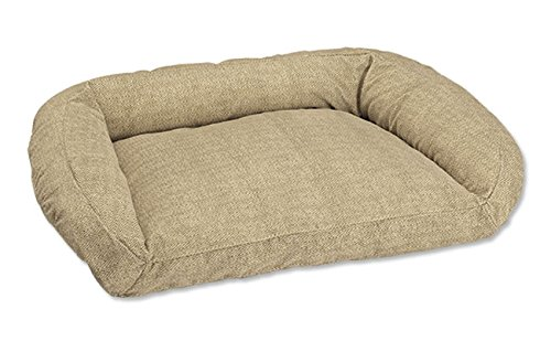 Orvis Deep Dish Toughchew Dog Bed With Polyester Fill / Medium Dogs 40-60 Lbs., Herringbone