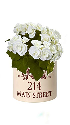 Personalized Dogwood Branch 2 Gallon Stoneware Crock (Red Crock with White Flower) by Generic