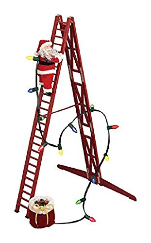 Mr. Christmas Stepping Santa Animated Musical Holiday Decoration with Internal Speakers