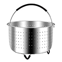 Deals on The Original Food Grade 304 Stainless Steel Steamer Basket Strainer
