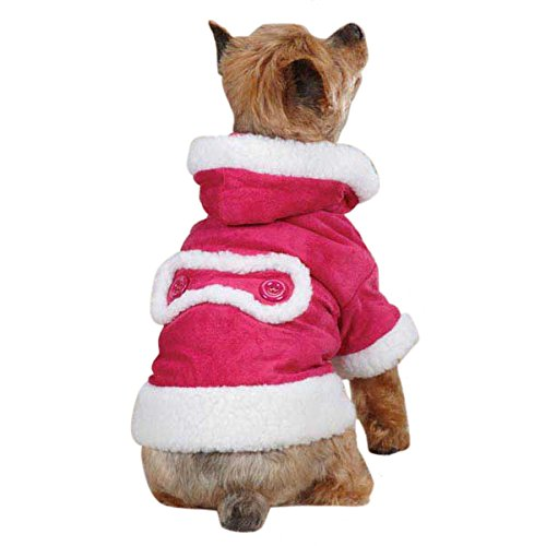 East Side Collection ZM3945 08 75 Hooded Sherpa Jacket for Dogs, XX-Small, Raspberry