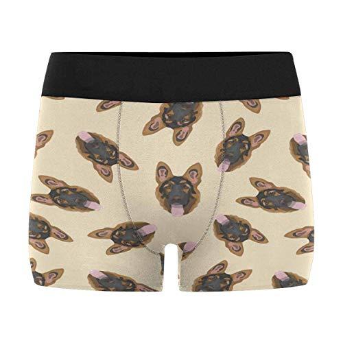 InterestPrint Men's German Shepherd Boxer Briefs Underwear M -