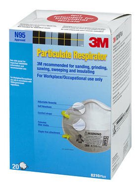 160 Pcs 3M 8210 N95 Respirator Masks By 3m, (1-case of 8-boxes) USA Version by 3M by 3M