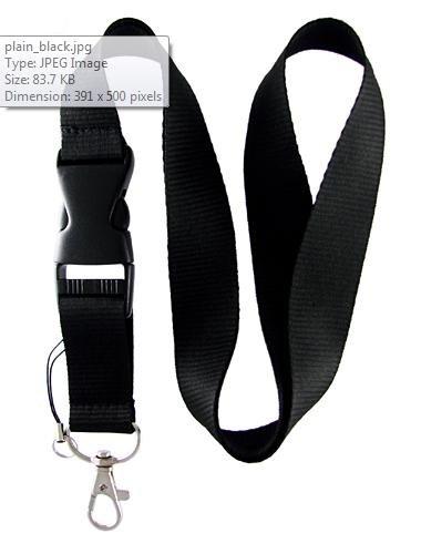 Black Lanyard Keychain Holder with buckle