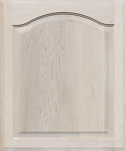 Unfinished Maple Arch Top Cabinet Door by Kendor, 24 High x 20 Wide Maple Arch