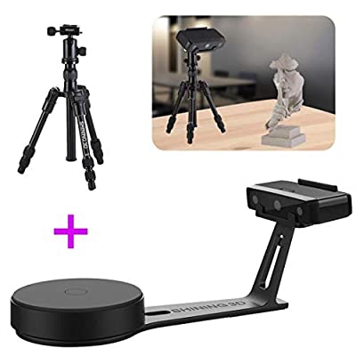 2019 New 3D EinScan-SE White Light Desktop 3D Scanner with Tripod, 8s Scan Speed, 0.1 mm Accuracy, 700mm Cubic Max Scan Volume, Fixed/Auto Scan Mode, Lowest Cost Professional Level 3D Scanner