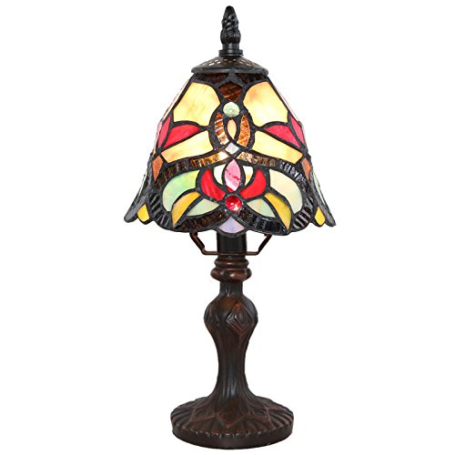 Glass Tiffany Style Stained Glass Memory Lamp - Red Cathedral - Engraving Sold - Engraving In Store Tiffany