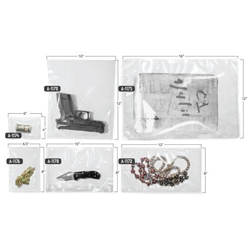 Arrowhead Forensics A-1174 Heavy Duty Barrier Heat Seal Bag,