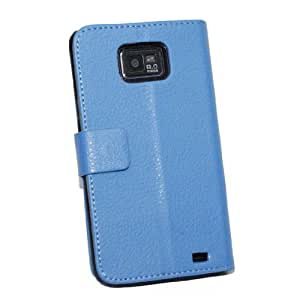 Leather Color Wallet Book Case for i9100 Galaxy S2 Best Quality