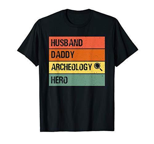 Mens Husband Daddy Archeology Hero shirt Fathers day Dad Tee