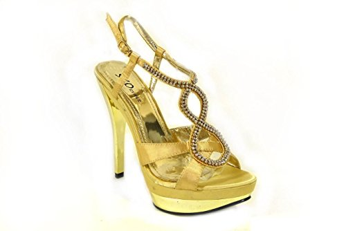 SKO'S 8 de Bride 31050 cheville femme Gold 66S1w