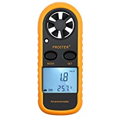 This Proster Digital Anemometer is ideal for outdoor activities such as Windsurfing; Flying Kite, Aeromodelling and UAV; Sailing; Surfing;Fishing; Hiking; Shooting; Walking Features: Measure wind speed and temperature. Large easy-to-read LCD ...
