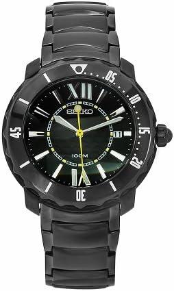 Seiko Men s SKK893P1 Stainless-Steel Analog with Black Dial Watch