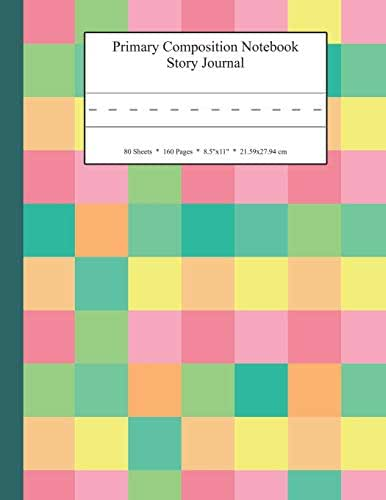 Primary Composition Notebook Story Journal: Educational Writing and Drawing Handwriting Activity Workbook (Soft Pastel Color Collage Pattern Cover)